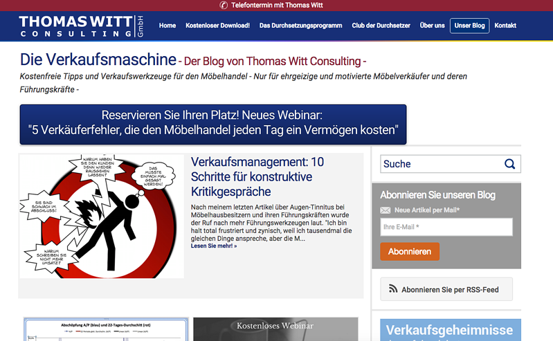 Thomas Witt Consulting experienced incredible inbound results