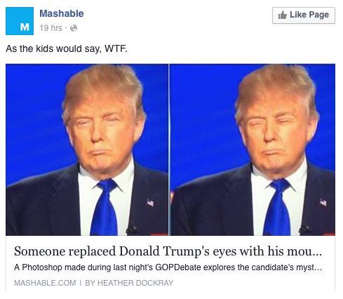 Facebook Reactions - Donald Trump