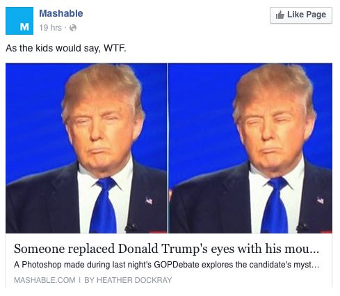 Facebook Reactions - Donald Trump