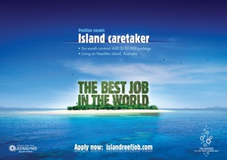 Tourism Queensland's 2009 'Best Job in the World' campaign