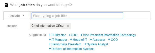 LinkedIn job titles