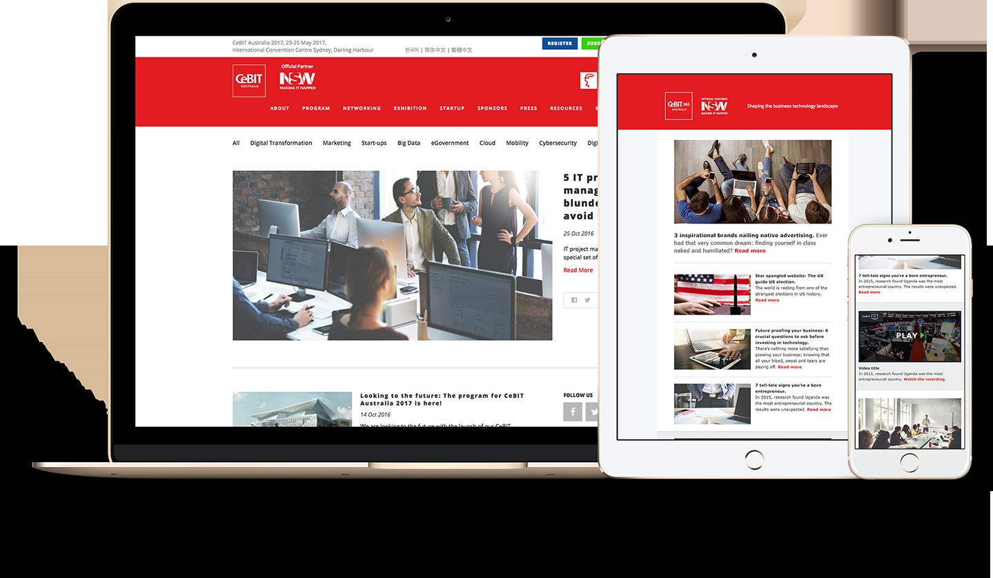 CeBIT blog and newsletter