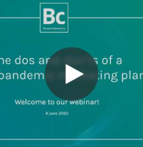 On demand webinar post pandemic marketing plan