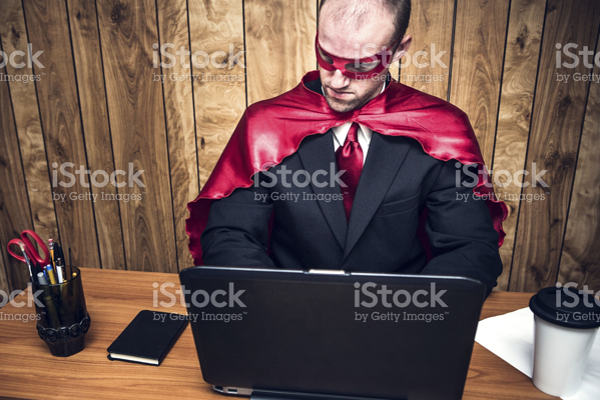 funny istock photo office hero