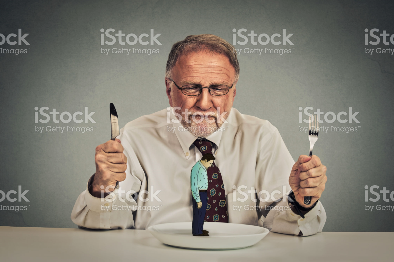 funny istock photo man eating other man