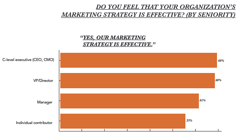 Do you feel that your organisation's marketing strategy is effective?