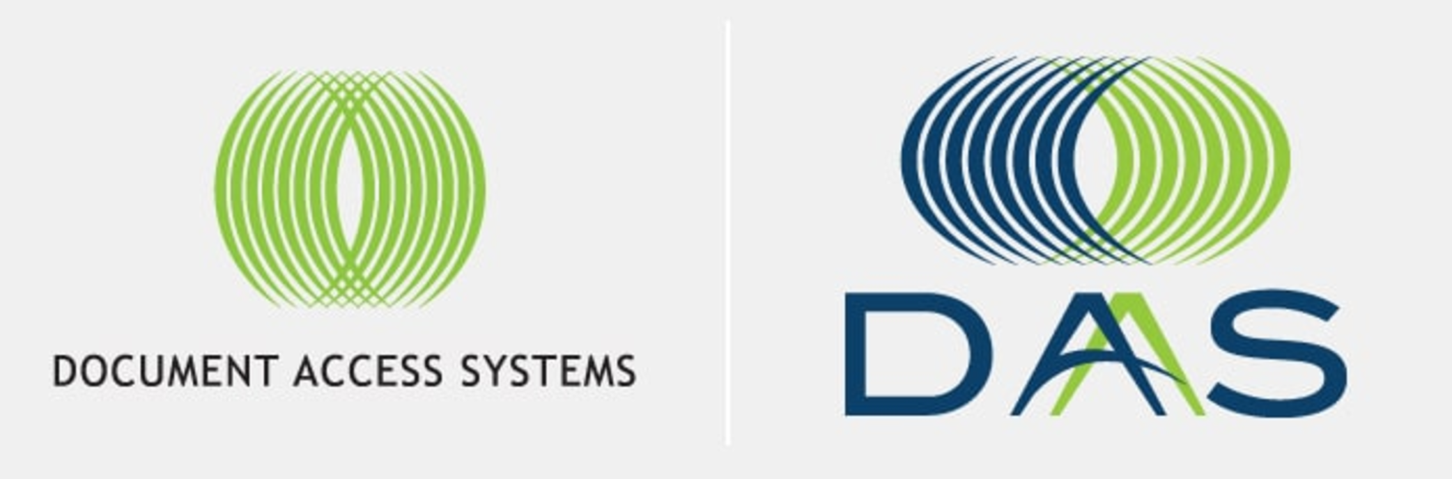 Document Access Systems logo, before and after