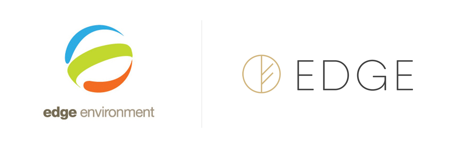 Edge Environment logo, before and after