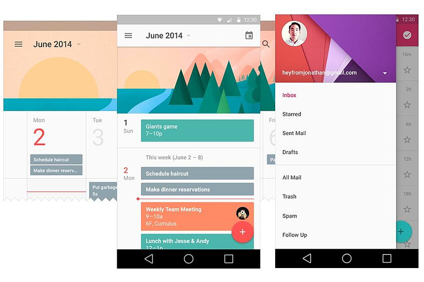 Google Material Design - UX Trends 2017