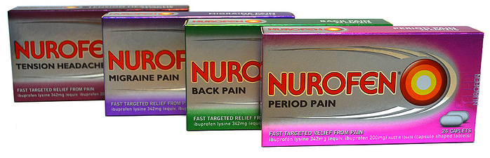 Targeted Nurofen pain relievers