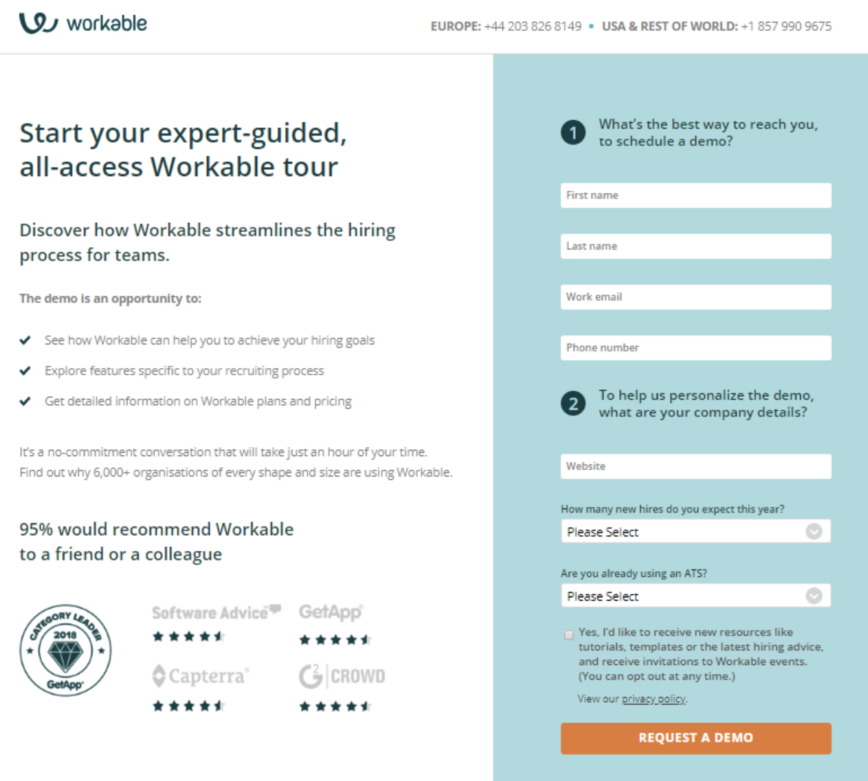 landing page example one